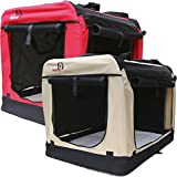 Dogidogs Hundetransportbox faltbar Transportbox für Hunde Hundebox Auto - Dogi Kennel - beige Größe M