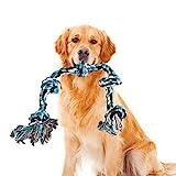 Hundespielzeug, Hundespielzeug Seil, Hundeseil Spielzeug, Hundeseil Unzerstörbar, Hundeseil große Hunde, Interaktives Hunde Spielseil Intelligenzspielzeug für Zahnreinigung, Baumwolle, 91cm