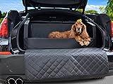 Travelmat PLUS Kofferraum Hundebett fürs Auto 90x70 cm Kunstleder mit orthopädischer Liegefläche schwarz
