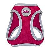 DDOXX Brustgeschirr Air Mesh, Step-In, reflektierend   viele Farben   für kleine, mittlere & mittelgroße Hunde   Hunde-Geschirr Hund Katze Welpe   Katzen-Geschirr Welpen-Geschirr   Pink, XS