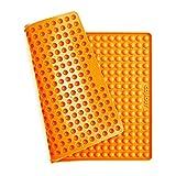Collory Mini Halbkugel (1cm) Silikon Backmatte, Backform Mini Hundekekse, Backunterlage für Backofen, Silikonmatte Alternative zu Backpapier, Hitzebeständig & Lebensmittelecht, Bpa-frei