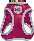 DDOXX Brustgeschirr Air Mesh, Step-In, reflektierend | viele Farben | für kleine, mittlere & mittelgroße Hunde | Hunde-Geschirr Hund Katze Welpe | Katzen-Geschirr Welpen-Geschirr | Pink, XS