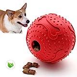 ThinkPet Hundespielzeug zum Kauen, IQ-Ball-Intelligenz-Spielzeug für die Zahnreinigung Rot, Mittelgroß, EINWEG Verpackung