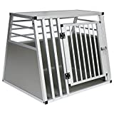 EUGAD Hundetransportbox Alu Hundebox Reisebox Autobox für große Hunde Husky Samojede Weimaraner Border Collie Chow-Chow Shetland Sheepdog 80 x 65 x 65 cm XL 0061HT