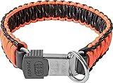 Sprenger Hundehalsband aus stabilem Paracord Nylon mit Edelstahl Clic Lock Verschluss I Wasserabweisende Halskette, reflektierend, langlebig 55 cm, orange